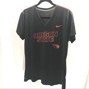Dark gray and orange Nike Oregon OSU T-shirt XL